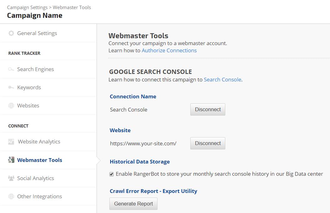 Search Console Crawl Error Export Utility